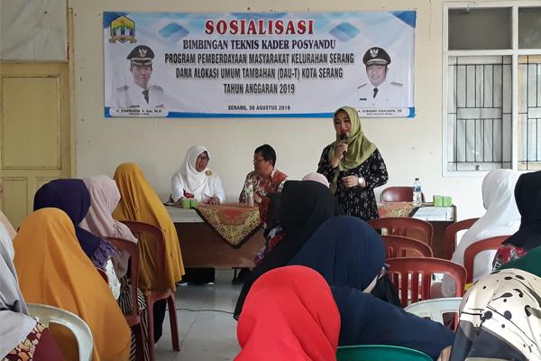 Bimbingan Teknis Kader Posyandu Kelurahan Serang