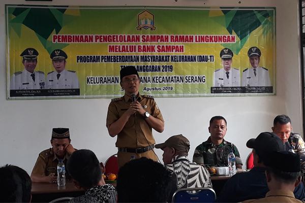 Program Pemberdayaan Masyarakat Bank Sampah DAU-T Kelurahan Sukawana Tahun 2019