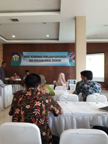 Rapat Koordinasi Penilaian Kerusakan dan Kerugian Sosial Ekonomi Korban Bencana