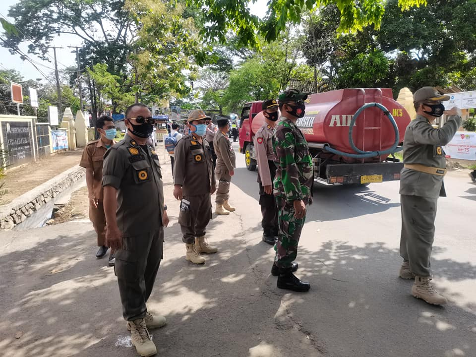 Operasi Protokol Kesehatan Masker bersama MUSPIKA Kecamatan Serang